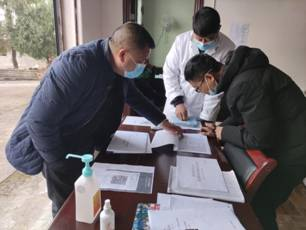 西興鎮中心衛生院督查村衛生室疫情防控工作
